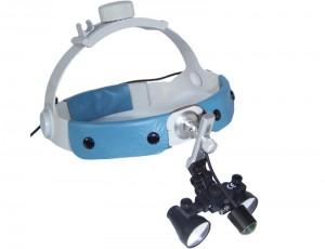 ErgonoptiX-Galilean-Surgical-loupes-head-band-with-D-Light-medical-LED-headlight