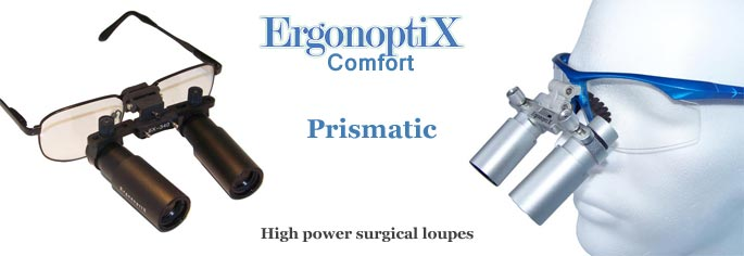 ErgonoptiX Comfort Prismatic - surgical, medical, dental, loupes - banner