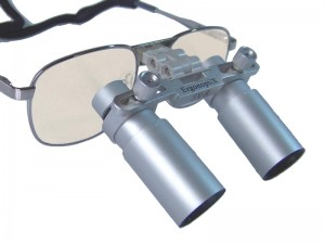 ErgonoptiX Comfort medical loupes - Prismatic - metallic Silver