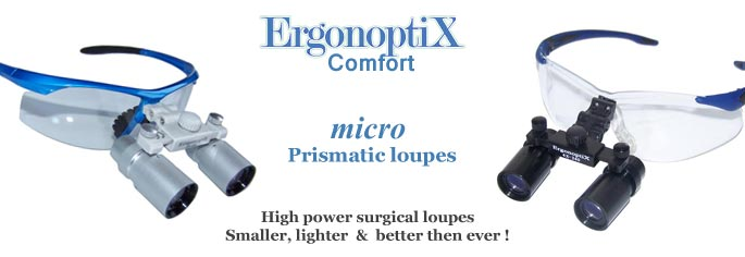 ErgonoptiX Comfort micro Prismatic - surgical, medical, dental, loupes - banner