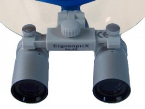 ErgonoptiX Comfort medical loupes - micro Prismatic - Silver