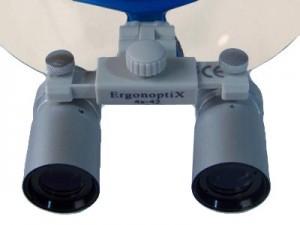 ErgonoptiX Comfort medical loupes - micro Prismatic - Silver